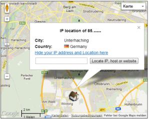 IP-Adresse orten ohne Proxyserver