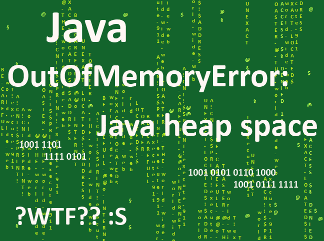 "Exception in thread ""main"" java.lang.OutOfMemoryError: Java heap space"