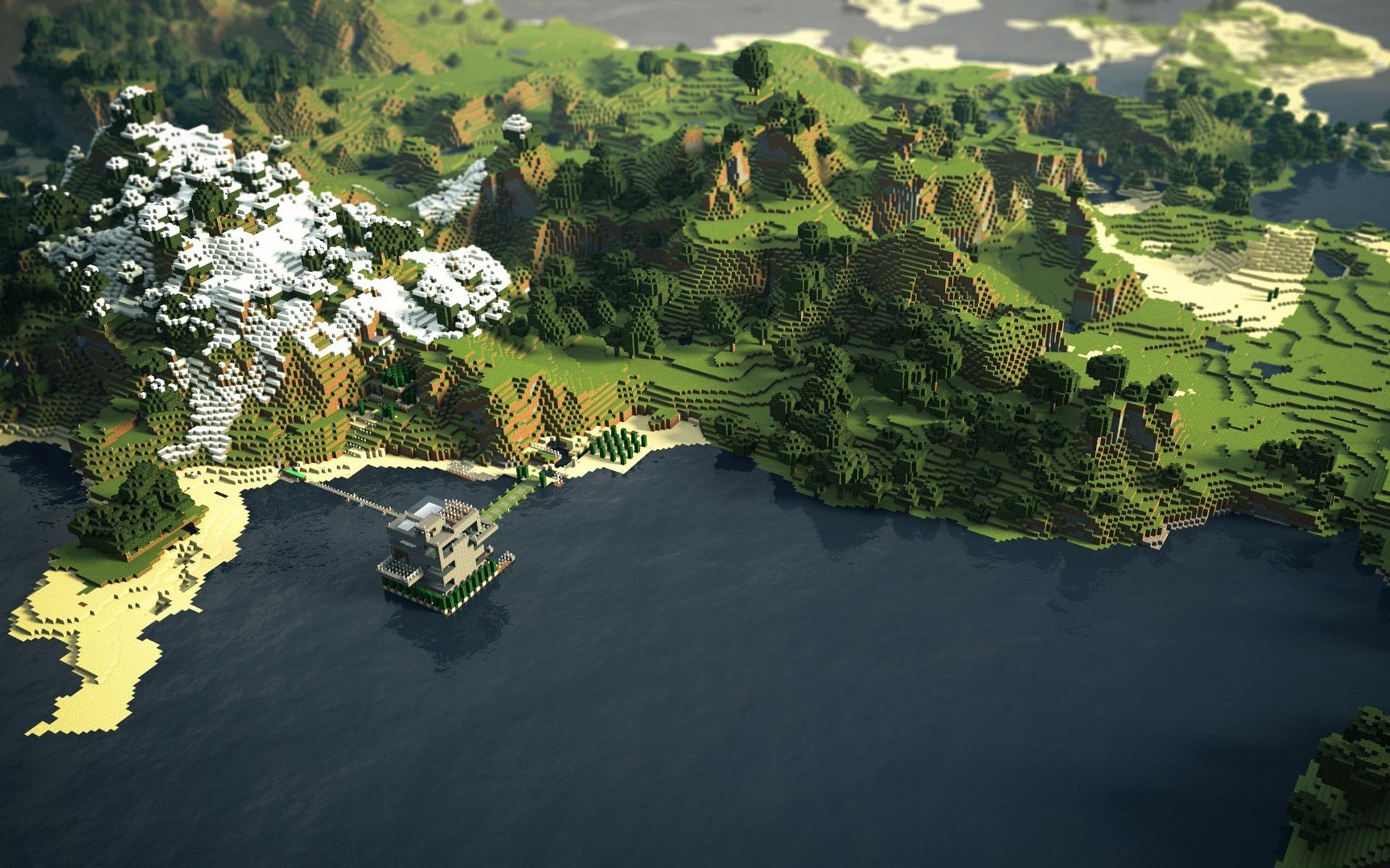 Minecraft Landschaft
