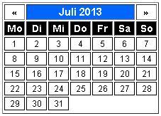 Html-Kalender