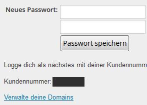 Wordpress Domainmanger Zugangsdaten