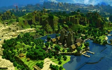 Minecraft - weite Landschaft