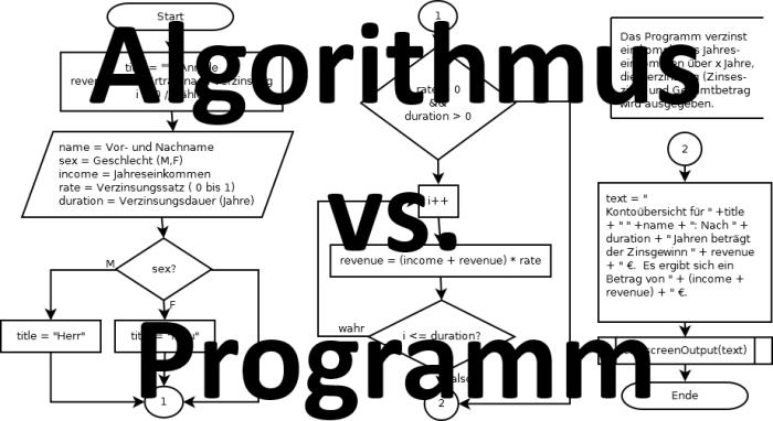 Algorithmus vs. Programm