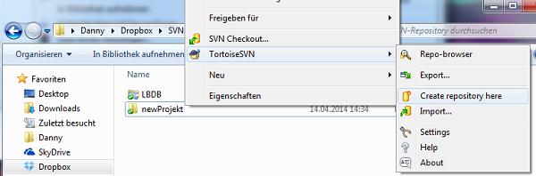 SVN Repository erstellen