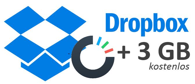 3 GB zusätzlicher Dropbox-Speicher